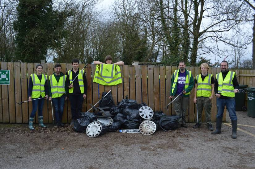 Litter Pick at Brackenhurst